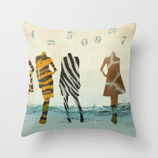 fashion line up Throw Pillow