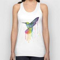 Hummingbird Watercolor Unisex Tank Top