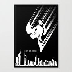Superman Man of Steel Poster Canvas Print