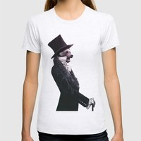 Unbearable gentleman Womens Fitted Tee Ash Grey SMALL