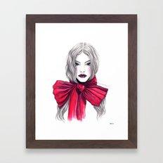 Red Bow Framed Art Print