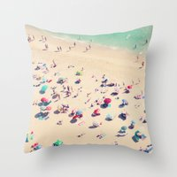 beach love - Nazare Throw Pillow