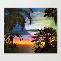 Tropical Nights Canvas Print