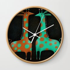 NECK AND NECK Wall Clock