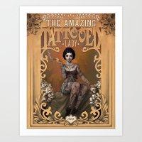 The Amazing Tattooed Lad… Art Print