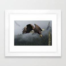 Vision Quest - Bald Eagle & Mists Framed Art Print