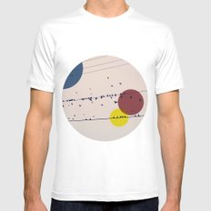 Chaos On The Wires White Mens Fitted Tee SMALL