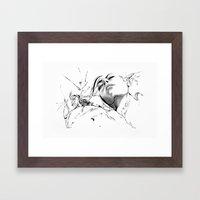 Line 1 Framed Art Print