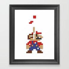 Super Mario Tetris Framed Art Print