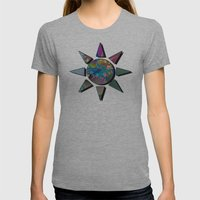 Wet Paint Fractal  Womens Fitted Tee Athletic Grey SMALL