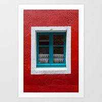 The Blue Window And The … Art Print
