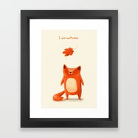 I Am Autumn (1) Framed Art Print