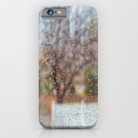 iPhone & iPod Case featuring Fence in the Rain by Maite Pons