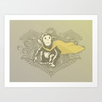 Fearless Creature: Chimp… Art Print
