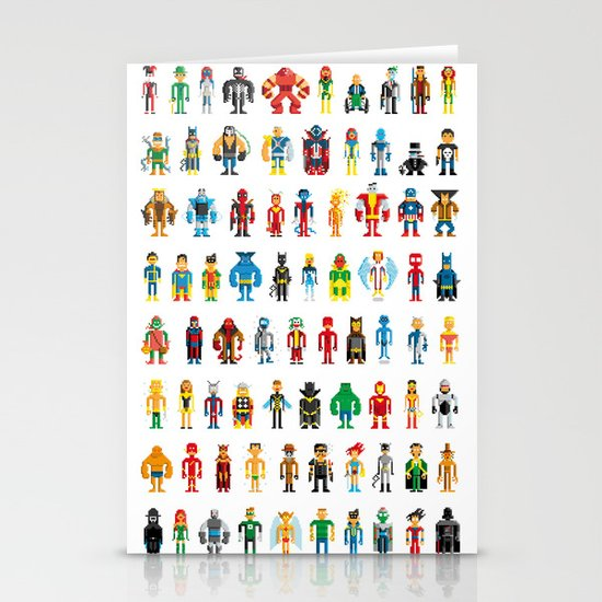 Pixel Heroes Stationery Card