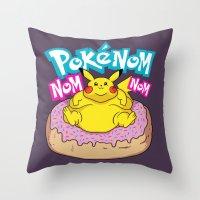 PokenomNOM Throw Pillow