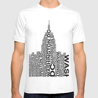 Washington Capitol  Mens Fitted Tee White SMALL