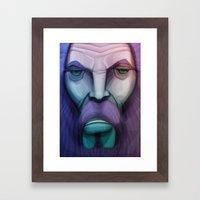 old wizard Framed Art Print