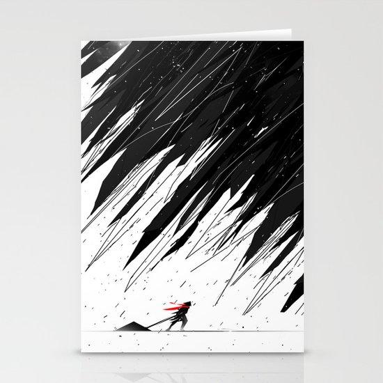Geometric Storm Stationery Card