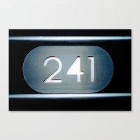 241 Cut Metal Sign Canvas Print