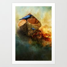 Beached Crow Art Print
