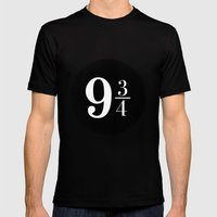 Platform 9 3/4 Mens Fitted Tee Black SMALL