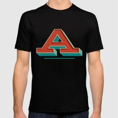 A is for... Anything Mens Fitted Tee SMALL Black