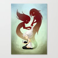 Combing Canvas Print