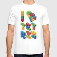I Heart Tetris Mens Fitted Tee White SMALL