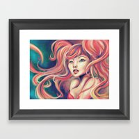 Technicolor Mermaid Framed Art Print