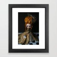 BAROQUE MARIE ANTOINETTE BLYTHE ART DOLL GOLD Framed Art Print