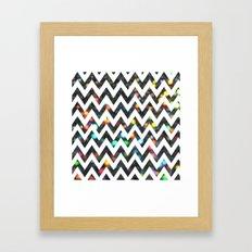 Chevron Sparkles Framed Art Print