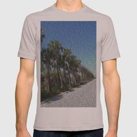 Infinite Palm Trees Mens Fitted Tee Cinder SMALL
