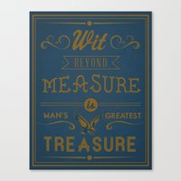 Wit Beyond Measure Is Ma… Canvas Print