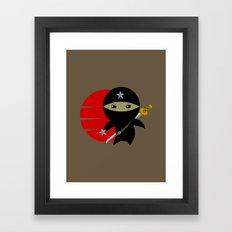 Ninja Star - Dark version Framed Art Print