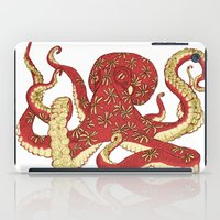 Flowered Octopus iPad Case