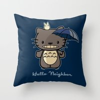 Hello Neighbor Throw Pillow