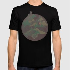 Camouflage Year of Horse Black Mens Fitted Tee SMALL