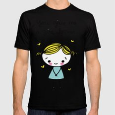 Girl Boner Mens Fitted Tee Black SMALL