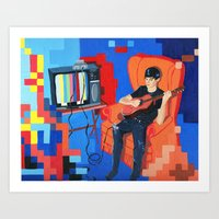 PIXEL BAND Art Print