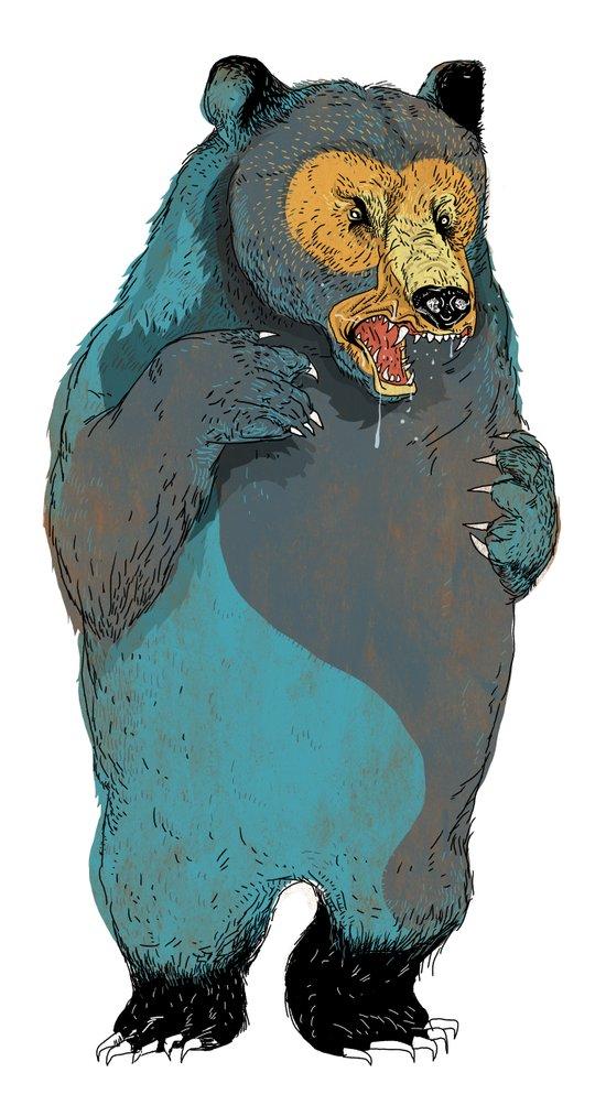 Mr.Grizzly Art Print