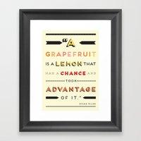 Oscar Wilde: A Grapefrui… Framed Art Print