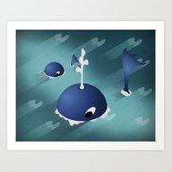 Moby And Son Art Print