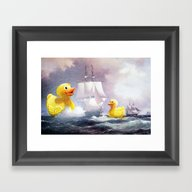 Terror On The High Seas … Framed Art Print