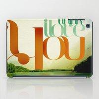 I Think I Love You iPad Case