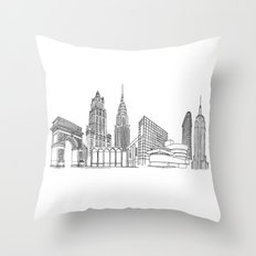 New York City by the Downtown Doodler Throw Pillow