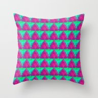 Modern Holiday Throw Pillow