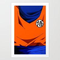Goku's Suit DBZ Art Print