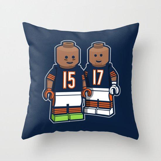 Bears Bricked: Brandon Marshall & Alshon Jeffery Throw Pillow