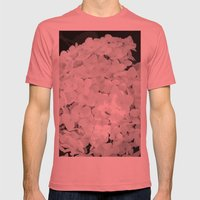White Mens Fitted Tee Pomegranate SMALL